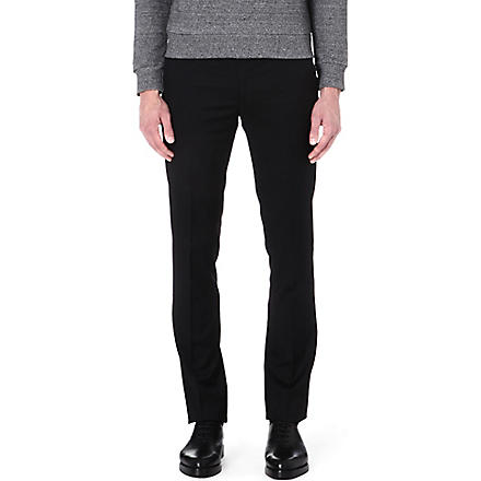 PAUL SMITH MAINLINE Slim-fit wool trousers (Black