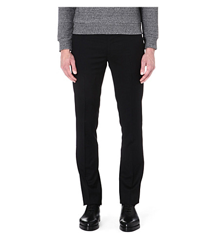 PAUL SMITH MAINLINE Slim-fit wool trousers (Black
