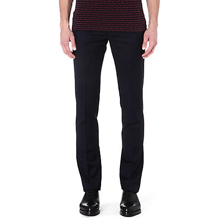 PAUL SMITH MAINLINE Slim-fit wool trousers (Navy