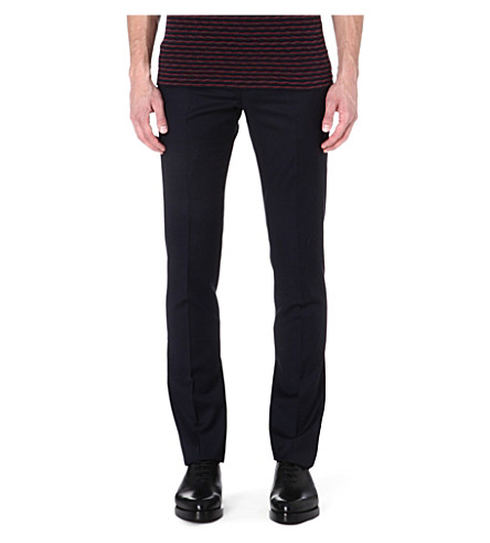 PAUL SMITH MAINLINE Slim-fit wool trousers (Navy