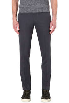 PAUL SMITH MAINLINE Slim-fit wool-blend trousers