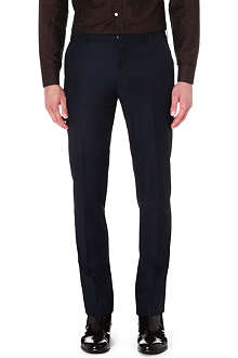 PAUL SMITH MAINLINE Windowpane-check wool-blend trousers