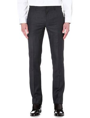 PAUL SMITH MAINLINE Prince of Wales checked wool-blend trousers