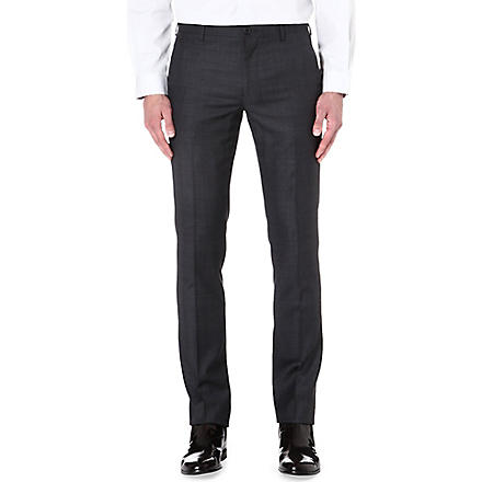 PAUL SMITH MAINLINE Prince of Wales checked wool-blend trousers (Grey