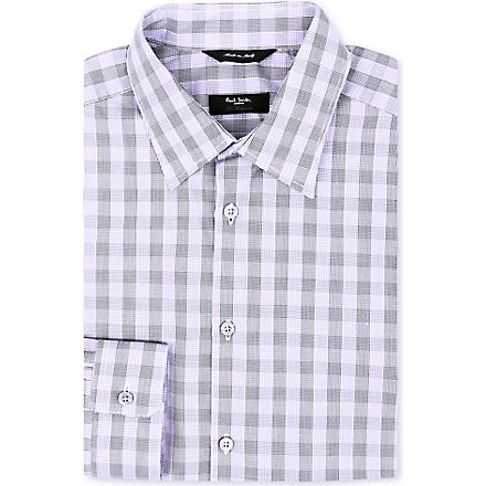 PAUL SMITH LONDON Regular-fit graphic check shirt (Lilac