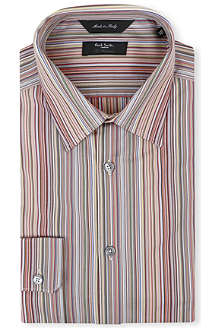 PAUL SMITH LONDON Classic multistripe regular-fit single-cuff shirt