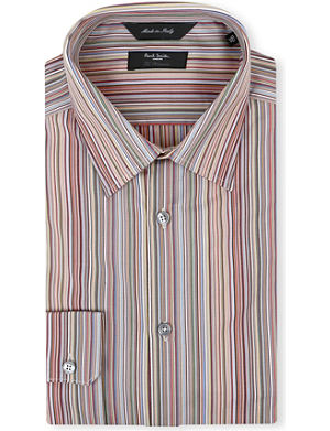 PAUL SMITH LONDON Classic multistripe regular-fit single-cuff shirt