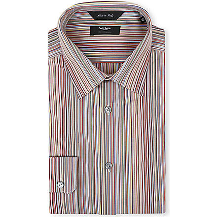 PAUL SMITH LONDON Classic multistripe regular-fit single-cuff shirt (Mstripe