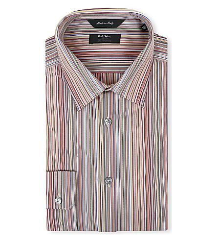 PAUL SMITH LONDON Classic multistripe regular-fit single-cuff shirt (Mstripe