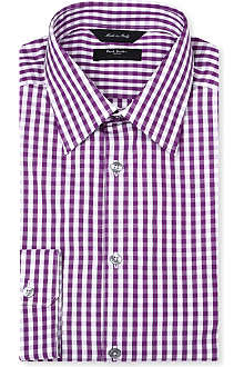 PAUL SMITH LONDON Gingham regular-fit single-cuff shirt