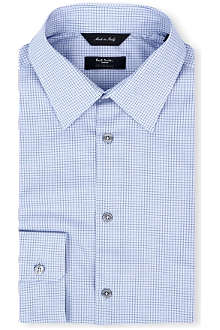 PAUL SMITH LONDON Micro-houndsooth regular-fit single-cuff shirt