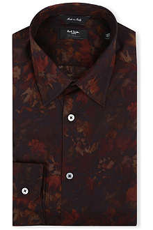 PAUL SMITH LONDON Digi-floral regular-fit single-cuff shirt