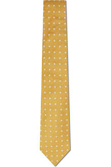 PAUL SMITH LONDON Dogtooth polka-dot silk tie