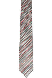 PAUL SMITH LONDON Pastel multi-striped silk tie