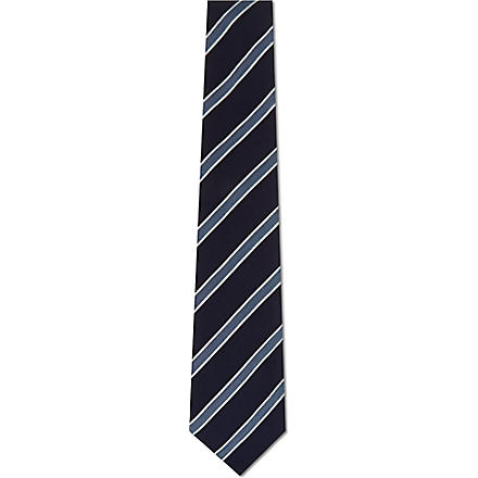 PAUL SMITH LONDON Striped silk tie (Navy