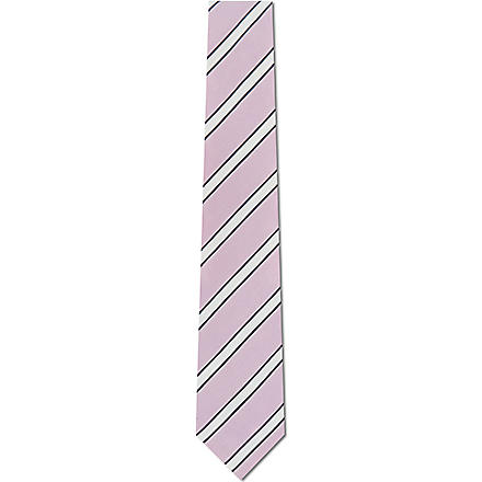 PAUL SMITH LONDON Striped silk tie (Pink