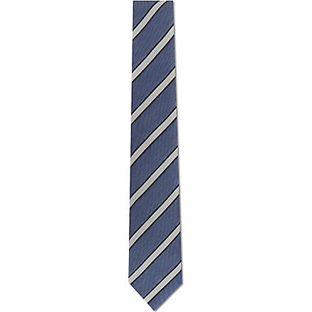 PAUL SMITH LONDON Striped silk tie (Sky