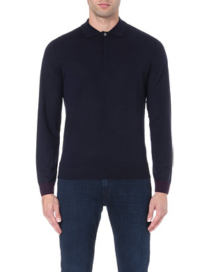 PAUL SMITH LONDON Contrast-trim knitted polo shirt