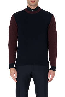 PAUL SMITH LONDON Contrast-sleeve alpaca-blend jumper