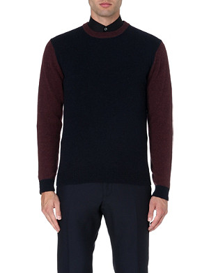 PAUL SMITH LONDON Contrast-sleeve alpaca-blend jumper