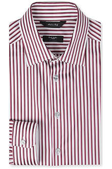 PAUL SMITH LONDON Shadow stripe tailored-fit single-cuff shirt
