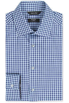 PAUL SMITH LONDON Gingham tailored-fit single-cuff shirt