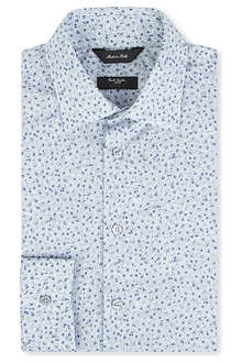 PAUL SMITH LONDON Floral print tailored single-cuff shirt