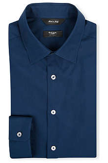 PAUL SMITH LONDON Straight point collar cotton shirt
