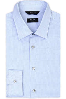 PAUL SMITH LONDON Micro-graph check single-cuff shirt
