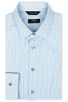 PAUL SMITH LONDON Striped cotton-blend shirt