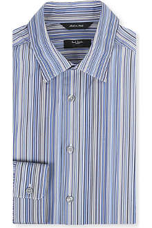 PAUL SMITH LONDON Multi-striped slim-fit shirt