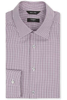PAUL SMITH LONDON Byard slim-fit micro-gingham shirt