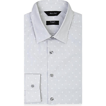 PAUL SMITH LONDON Polka dot shirt (Silver