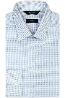 PAUL SMITH LONDON Mini-square printed single-cuff shirt