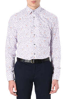 PAUL SMITH LONDON Two tone floral printed shirt