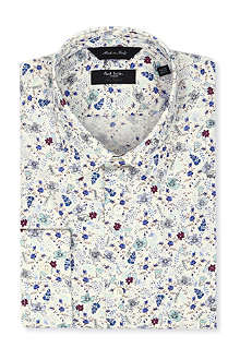 PAUL SMITH LONDON Byard floral-print tailored-fit shirt