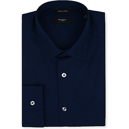 PAUL SMITH LONDON Byard tailored-fit cotton shirt (Navy