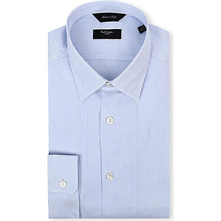 PAUL SMITH LONDON Striped regular-fit single-cuff shirt (Blue