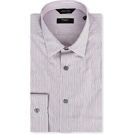 PAUL SMITH LONDON Striped regular-fit single-cuff shirt (Mauve