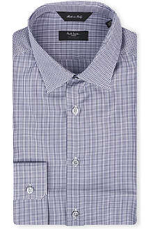 PAUL SMITH LONDON Micro-gingham slim-fit single-cuff shirt