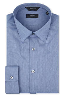 PAUL SMITH LONDON Dot-jacquard tailored-fit shirt