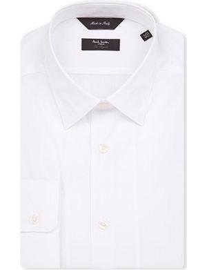PAUL SMITH LONDON Dot-jacquard tailored-fit shirt
