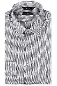 PAUL SMITH LONDON Chevron slim-fit single-cuff shirt
