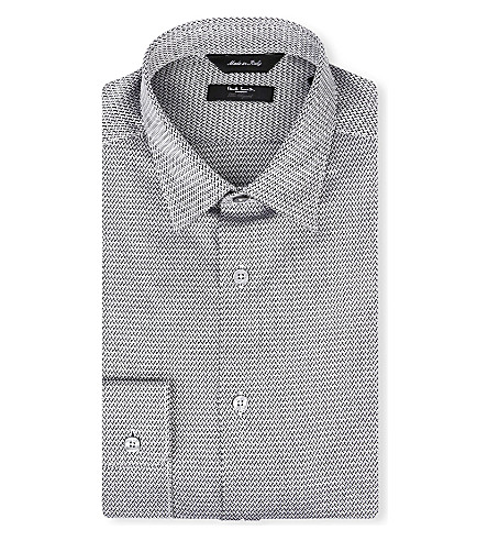 PAUL SMITH LONDON Chevron slim-fit single-cuff shirt (Black
