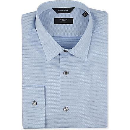 PAUL SMITH LONDON Micro jacquard shirt (Sky