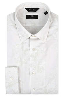 PAUL SMITH LONDON Floral-jacquard slim-fit single-cuff shirt