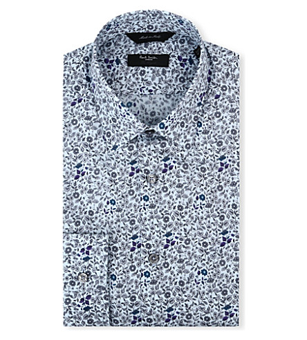 PAUL SMITH LONDON Westbourne floral regular-fit single-cuff shirt (Sky