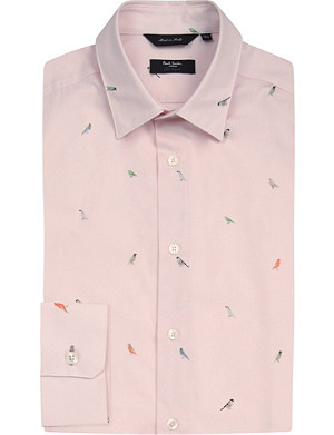 PAUL SMITH LONDON Bird-print cotton shirt