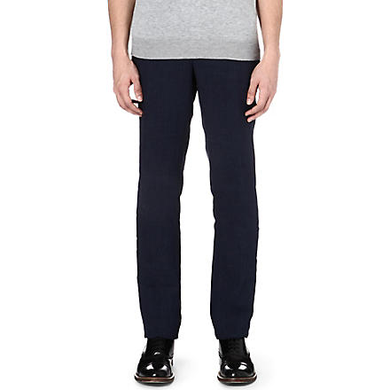 PAUL SMITH LONDON Linen trousers (Navy