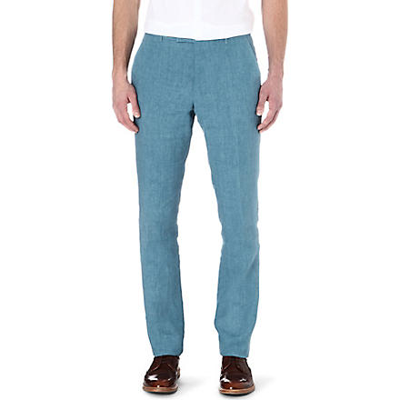 PAUL SMITH LONDON Linen trousers (Sky